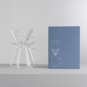 Simply Hario V60 Glass Brewing Kit S-VGBK-02-T