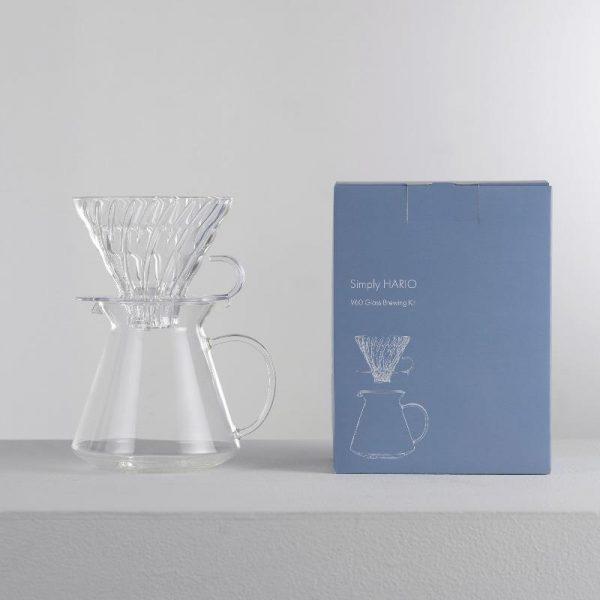 Simply Hario V60 Glass Brewing Kit S-VGBK-02-T