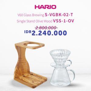 Promo Hario Simply Manual Brew (S-VGBK-02-T, VSS-1-OV)
