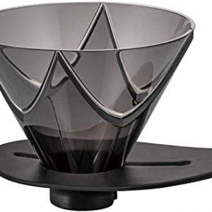 Hario V60 One Pour Dripper MUGEN Transparent Black VDMU-02-TB