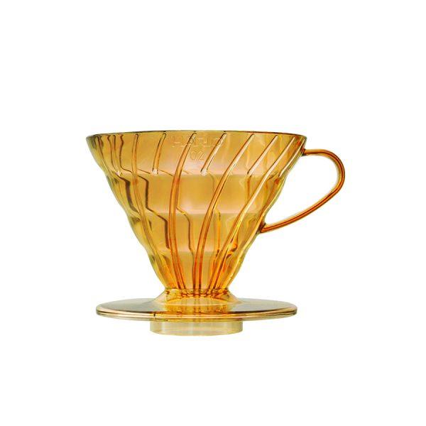 Hario V60 Transparent Honey Yellow 02 VD-02-THY-A