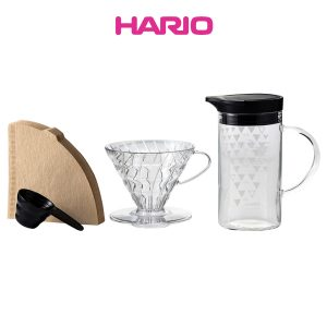 Hario Dripper & Thermo Color Server Set VDSS-3012-B